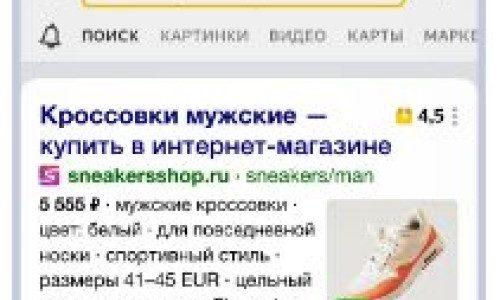 Сниппеты для интернет-магазинов в Яндекс